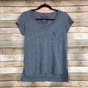Anthropologie t.la Gray Short Sleeved Tee Small